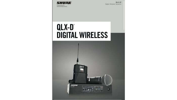 Receptor inalámbrico digital Shure QLX-D4, Transmisor de cuerpo inalámbrico Shure QLX-D1, Micrófono inalámbrico Shure KSM8